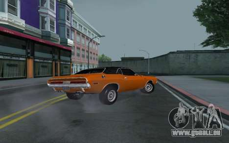 Dodge Challenger Tunable für GTA San Andreas obere Ansicht