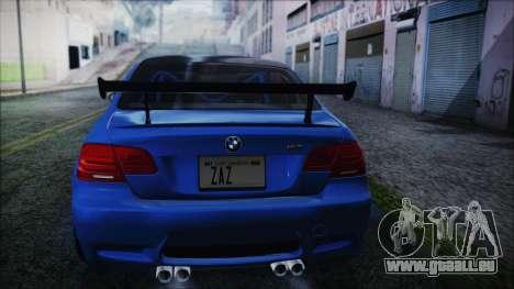 BMW M3 GTS 2011 HQLM für GTA San Andreas linke Ansicht