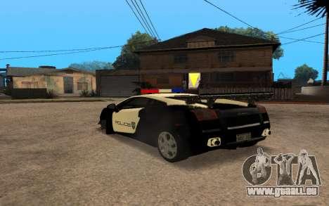 Lamborghini Gallardo Tunable v2 pour GTA San Andreas vue de droite