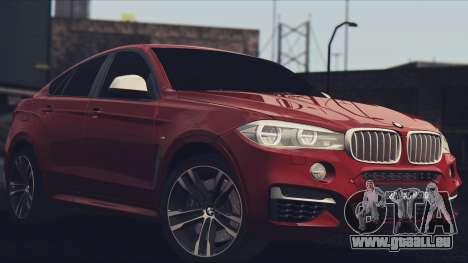 BMW X6M 50D pour GTA San Andreas laissé vue