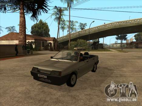 VAZ 21099 Cabrio für GTA San Andreas Innenansicht