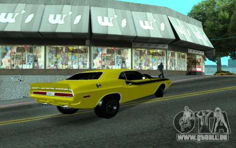 Dodge Challenger Tunable pour GTA San Andreas vue de droite