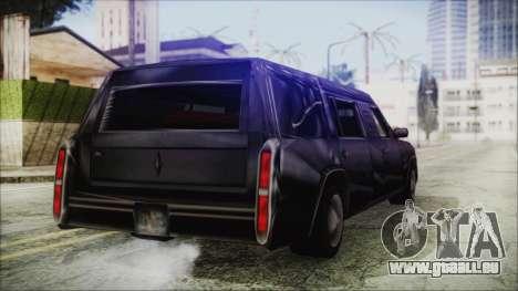 The Romeros Hearse pour GTA San Andreas sur la vue arrière gauche