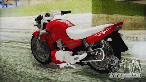 Yamaha YBR Tuning pour GTA San Andreas laissé vue