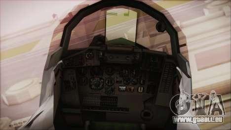 MIG-29 Fulcrum Ukrainian Falcons pour GTA San Andreas vue de droite