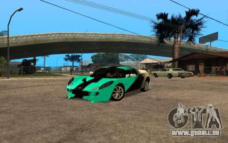 Lotus Elise 111s Tunable pour GTA San Andreas sur la vue arrière gauche