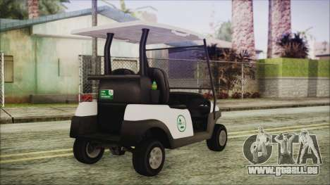 GTA 5 Golf Caddy für GTA San Andreas linke Ansicht
