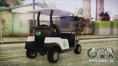 GTA 5 Golf Caddy pour GTA San Andreas laissé vue