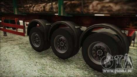 Iveco EuroTech Forest Trailer pour GTA San Andreas sur la vue arrière gauche