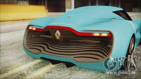 Renault Dezir Concept 2010 v1.0 pour GTA San Andreas vue intérieure