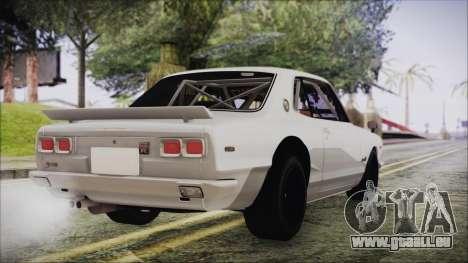 Nissan Skyline GT-R Hakosuka für GTA San Andreas linke Ansicht