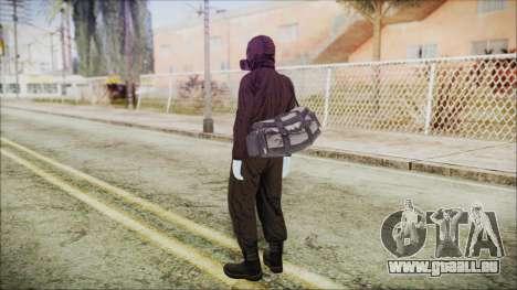 GTA 5 Online The Heist Gasmask White pour GTA San Andreas troisième écran