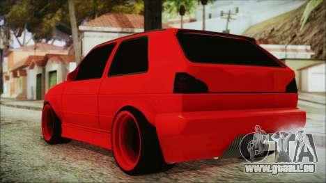 Volkswagen Golf 2 Ghetto Cult pour GTA San Andreas laissé vue