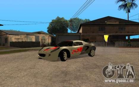 Lotus Elise 111s Tunable für GTA San Andreas Rückansicht