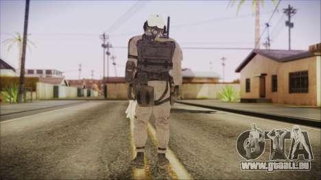 XOF Soldier (Metal Gear Solid V Ground Zeroes) pour GTA San Andreas troisième écran