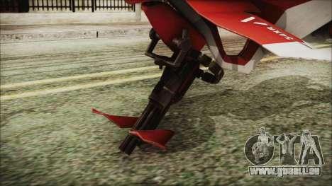 Syndicate Flying Motorcycle pour GTA San Andreas sur la vue arrière gauche