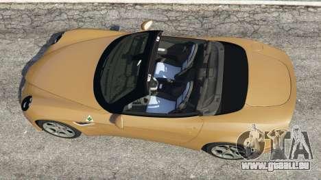 GTA 5 Alfa Romeo 8C Spider 2012 vue arrière