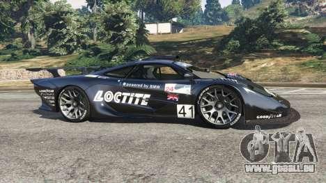 GTA 5 McLaren F1 GTR Longtail [Loctite] vue latérale gauche