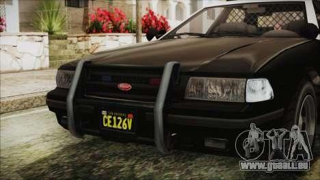 GTA 5 Vapid Stranier II Police Cruiser IVF pour GTA San Andreas vue intérieure