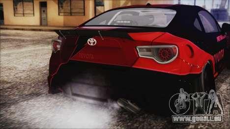 Toyota GT86 Speedhunters für GTA San Andreas Rückansicht
