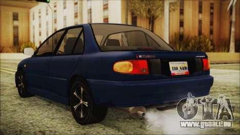 Mitsubishi Lancer 1998 pour GTA San Andreas laissé vue