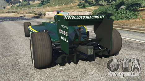 GTA 5 Lotus T127 arrière vue latérale gauche