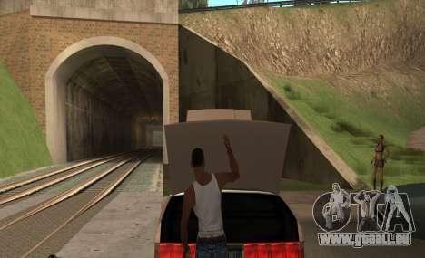 Ouvrir le capot ou du coffre mains pour GTA San Andreas deuxième écran