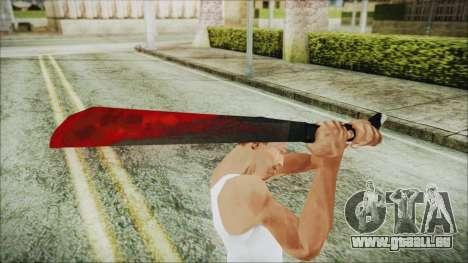 Jason Voorhes Weapon pour GTA San Andreas troisième écran