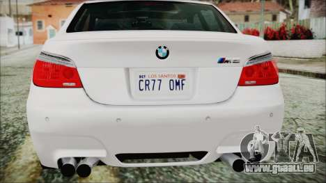 BMW M5 E60 2009 für GTA San Andreas obere Ansicht