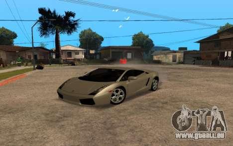 Lamborghini Gallardo Tunable v2 pour GTA San Andreas vue de côté