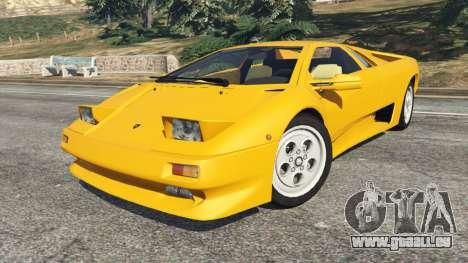 GTA 5 Lamborghini Diablo Viscous Traction 1994 droite vue latérale