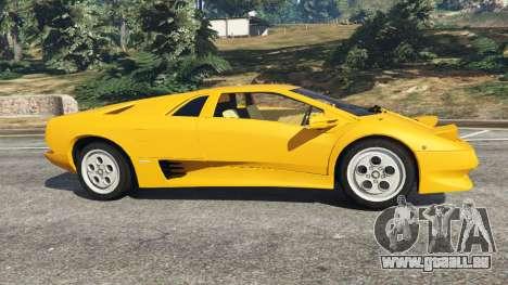 GTA 5 Lamborghini Diablo Viscous Traction 1994 vue latérale gauche