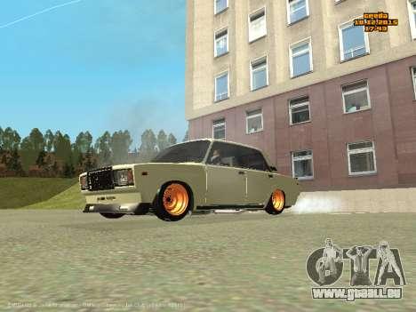 VAZ 2107 Voiture pour GTA San Andreas laissé vue