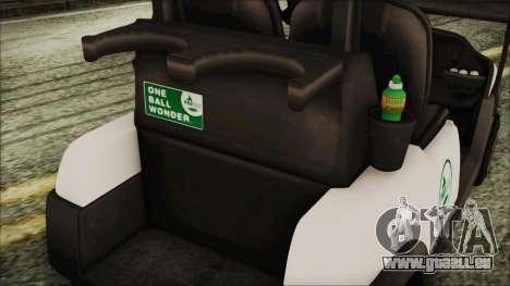 GTA 5 Golf Caddy pour GTA San Andreas vue de droite