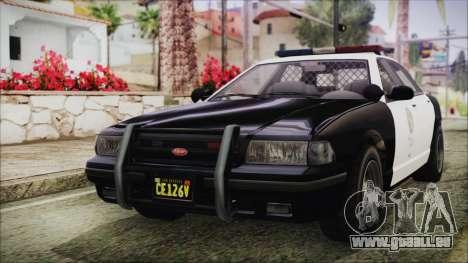 GTA 5 Vapid Stranier II Police Cruiser IVF für GTA San Andreas