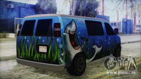 GTA 5 Bravado Paradise Shark Artwork pour GTA San Andreas laissé vue