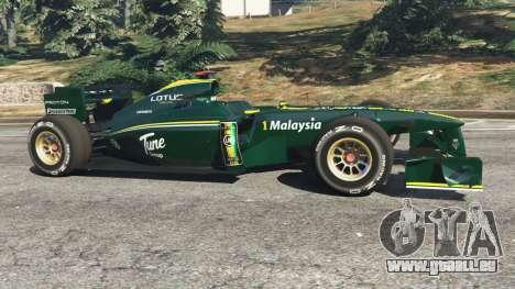 GTA 5 Lotus T127 vue latérale gauche