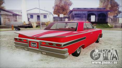 GTA 5 Declasse Clean Voodoo Bobble Version für GTA San Andreas linke Ansicht