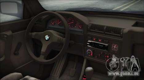 BMW 320i E21 1985 SA Plate pour GTA San Andreas vue de droite