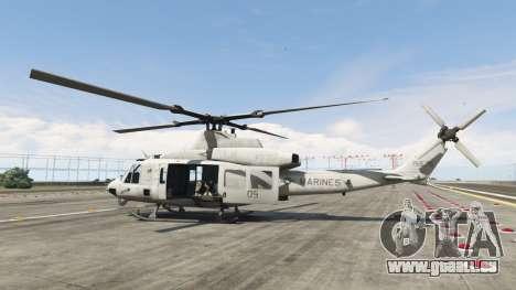 GTA 5 Bell UH-1Y Venom v1.1 deuxième capture d'écran