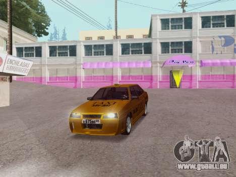 VAZ 21099 Tuning Russian Taxi für GTA San Andreas rechten Ansicht