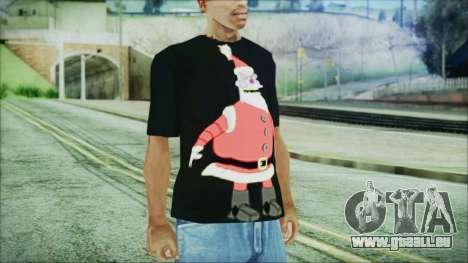 Santa T-Shirt für GTA San Andreas zweiten Screenshot