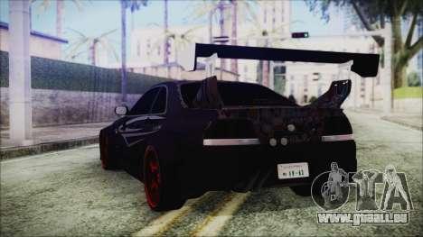Nissan Skyline R33 Widebody v2.0 pour GTA San Andreas laissé vue