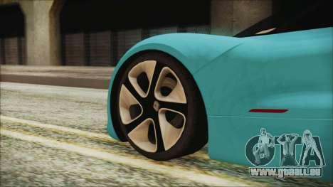 Renault Dezir Concept 2010 v1.0 pour GTA San Andreas sur la vue arrière gauche
