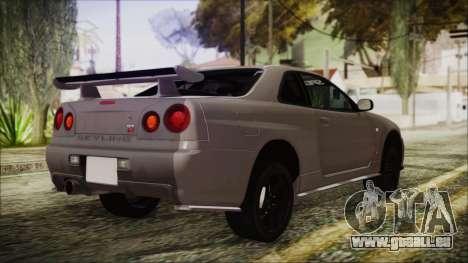 Nissan Skyline Nismo Body Kit pour GTA San Andreas laissé vue