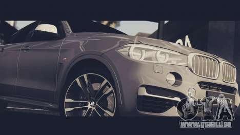 BMW X6M 50D pour GTA San Andreas vue de droite