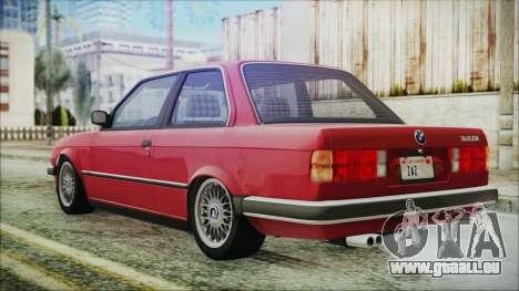 BMW 320i E21 1985 SA Plate pour GTA San Andreas laissé vue