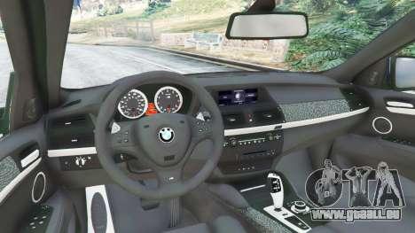 GTA 5 BMW X6 M (E71) v1.5 hinten rechts
