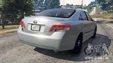 Toyota Camry 2011 pour GTA 5