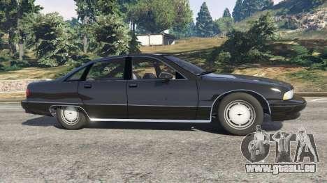 Chevrolet Caprice 1991 v1.2 pour GTA 5